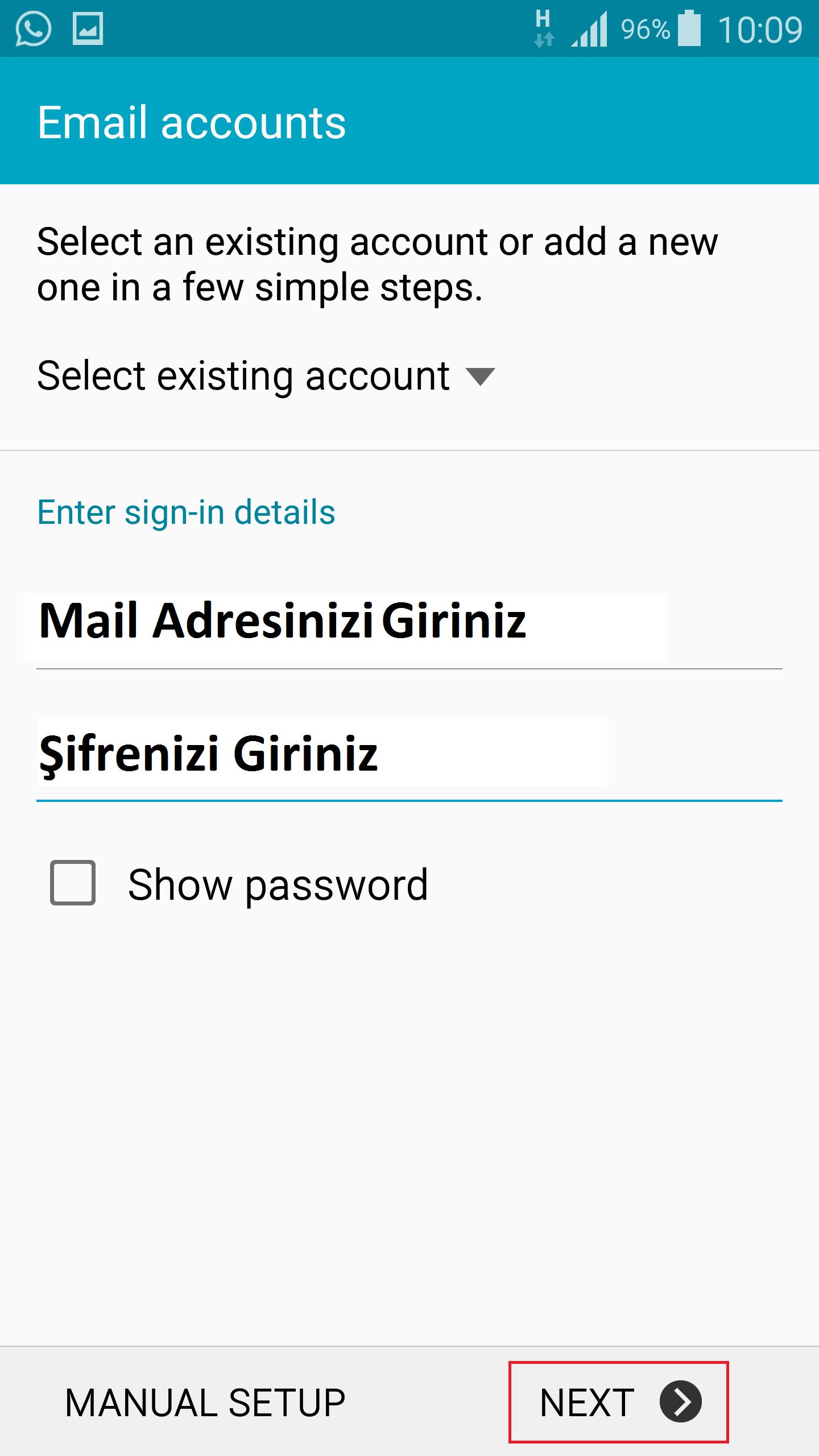 Mail Adresi Giriniz