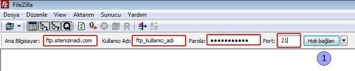 FileZilla Kullanımı 1