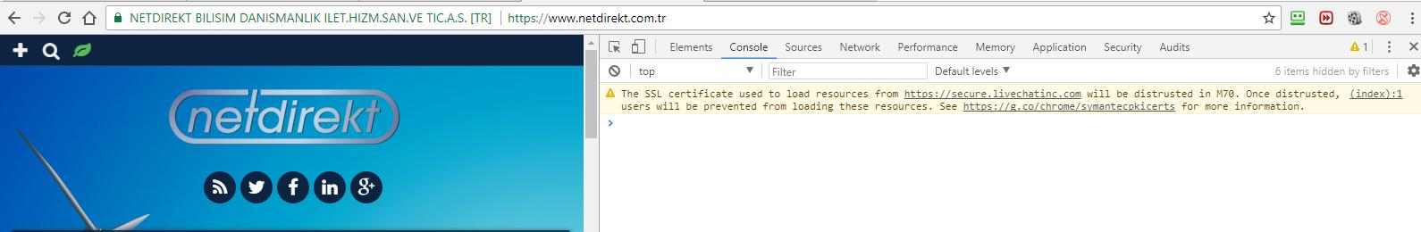Online Chat SSL Error